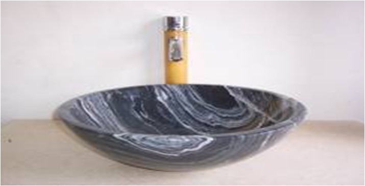 Bachas Para Baño Roca:Bacha De Piedra En Marron Y Negro / Pileta Para El Baño – U$S 238,37
