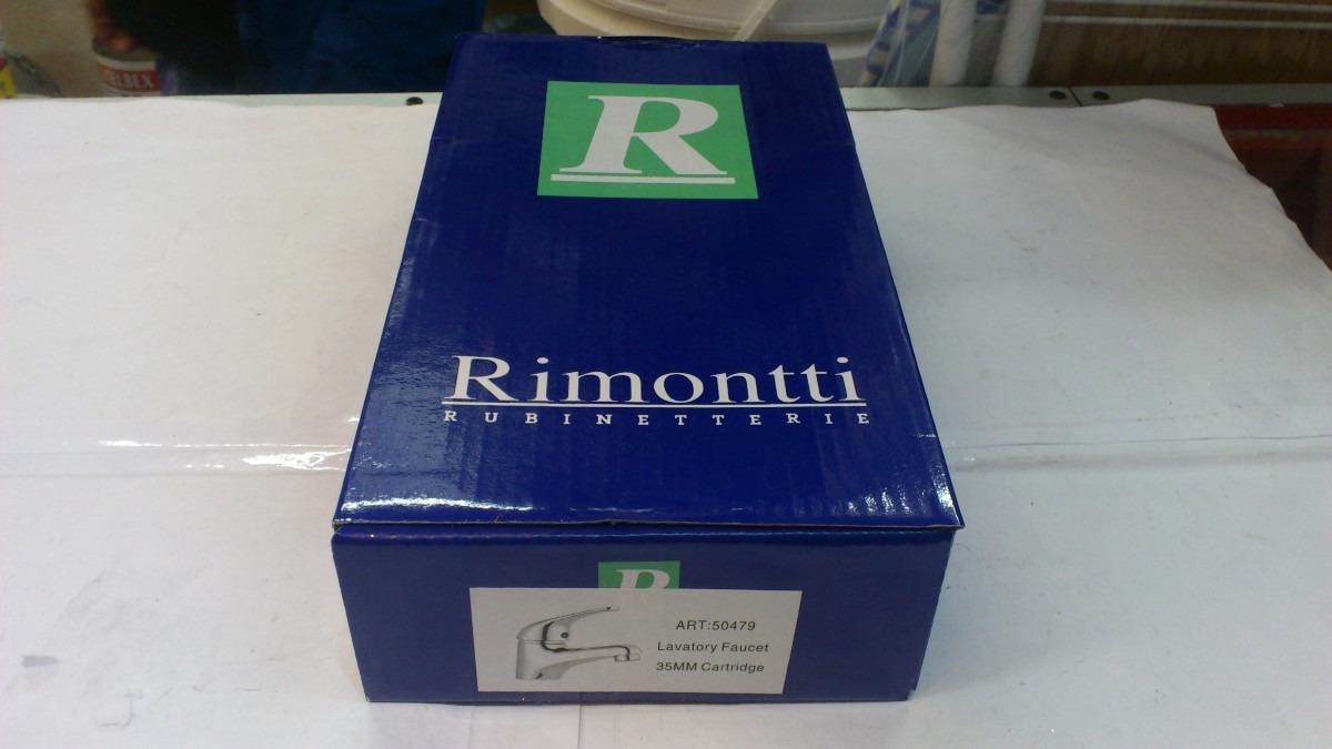 Griferia Para Baño Rimontti:Griferia Monocomando De Lavatorio Rimontti Nuevo Garantia – $ 620,00