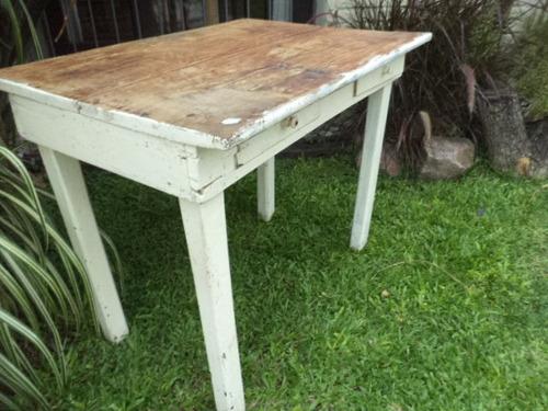 Mesa de campo antigua rustica vintage en - Mesas de campo ...