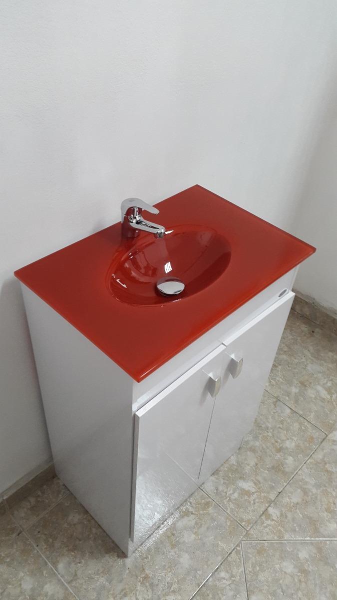 Bachas Para Baño Con Mueble:Mueble De Baño Bacha Roja – $ 4500,00 en Mercado Libre