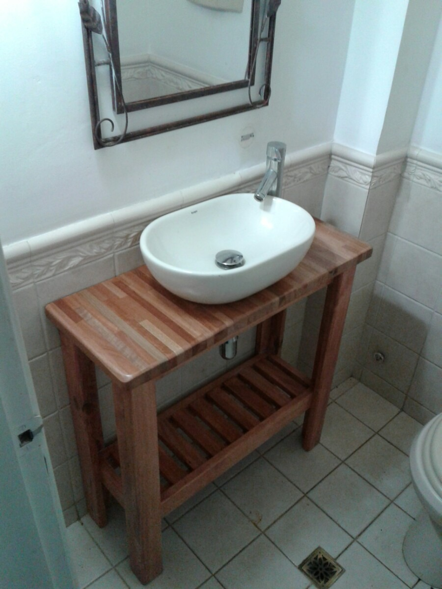 Foto mueble ba o a medida rustico de muejosala 134078 - Mueble de bano rustico ...