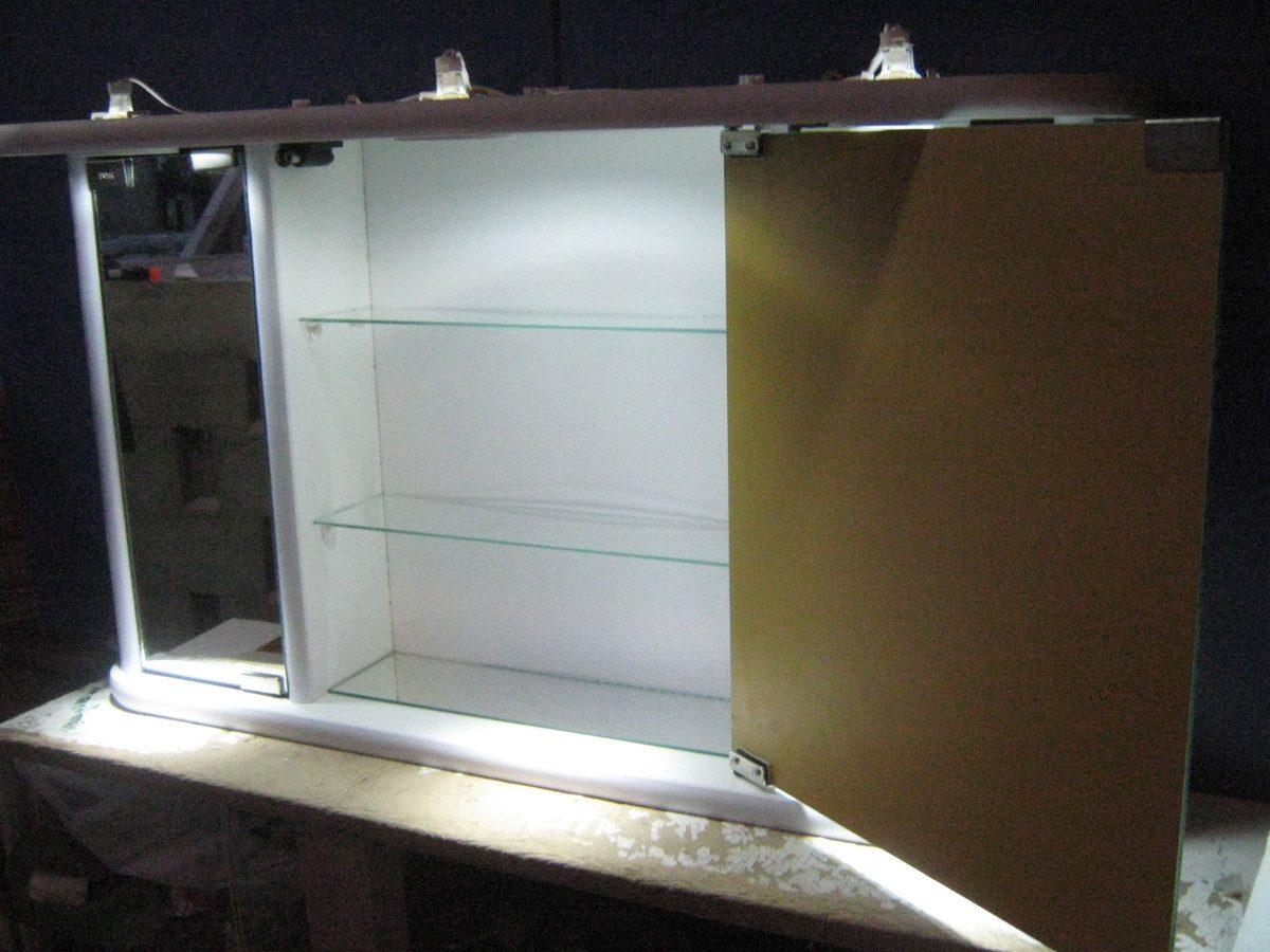 Botiquin Para Baño En Mercado Libre: Botiquin Grande De Tres Cuerpos Con Luces Led – $ 3420,00 en Mercado